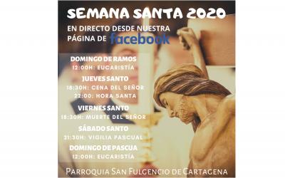 Semana Santa 2020 en la parroquia